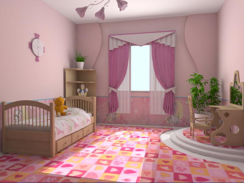 детских комнат для девочек фото